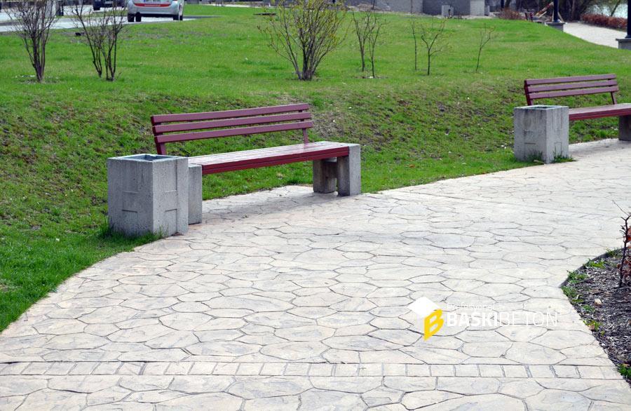 Park Alanlarında Baskı Beton