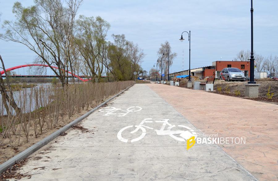 Yürüyüş ve Bisiklet Yolları için Desenli Beton